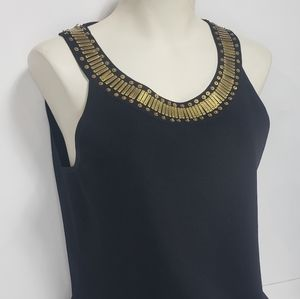 Cable & Gauge Black Top with Gold Pattern